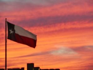 Texas Flag @ Sunset (800x600)