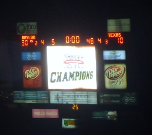 Baylor - BU UT 2013 - Scoreboard Champs 2